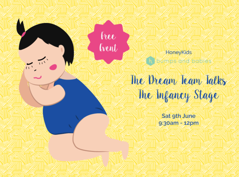 YOU'RE INVITED to The Dream Team Talks: The Infancy Stage – join us for FREE expert advice while your baby plays