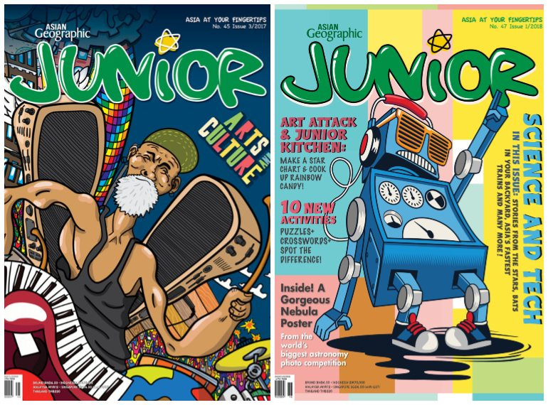 asian-geographic-junior subscription magazines for kids Honeykids Asia Singapore