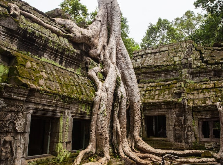 Ramble over the ruins with your kids at Angkor Wat.