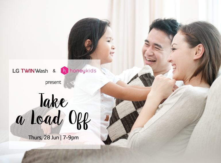 You're Invited to Take a Load Off with LG & HoneyKids – join us for a night of eating, drinking, relaxing + a chance to take home an LG TWINWash!