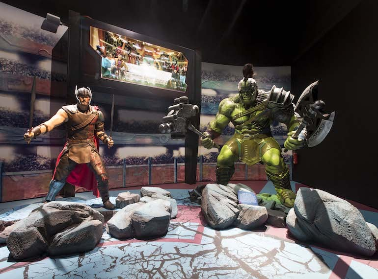 ASM-Marvel-Studios-Exhibition-Gallery-4_Sakaar's-Gladiator-Arena_Iconic-Battle-Between-Thor-and-Hulk-from-Marvel-Studios-Thor-Ragnarok