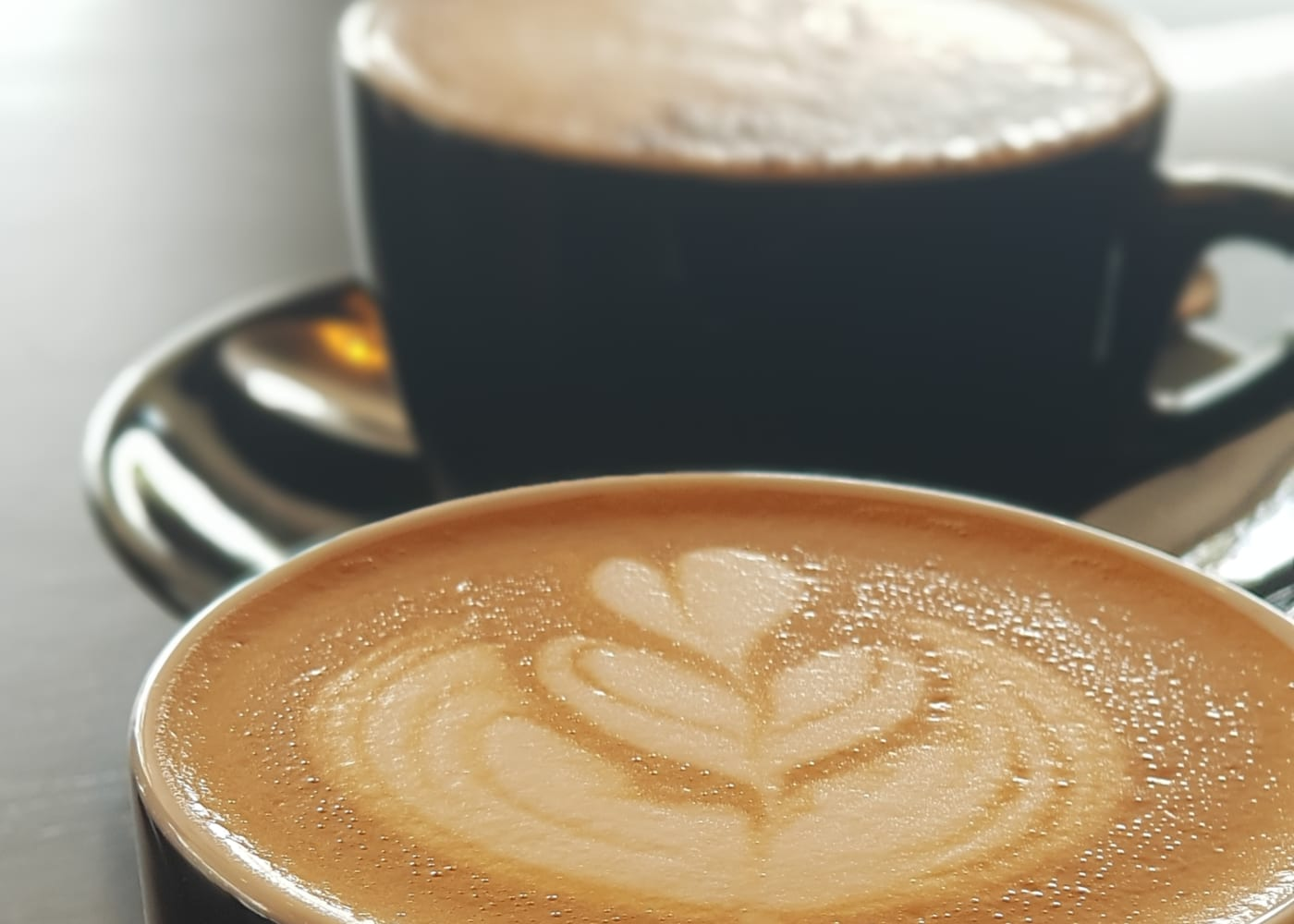 cups of coffee at Elixir