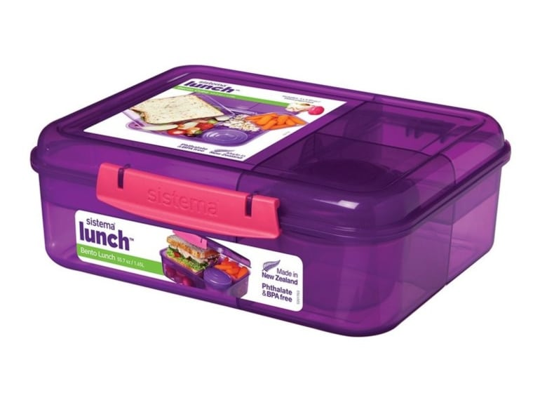 Sistema Bento Lunchbox Purple - kids lunchbox ideas