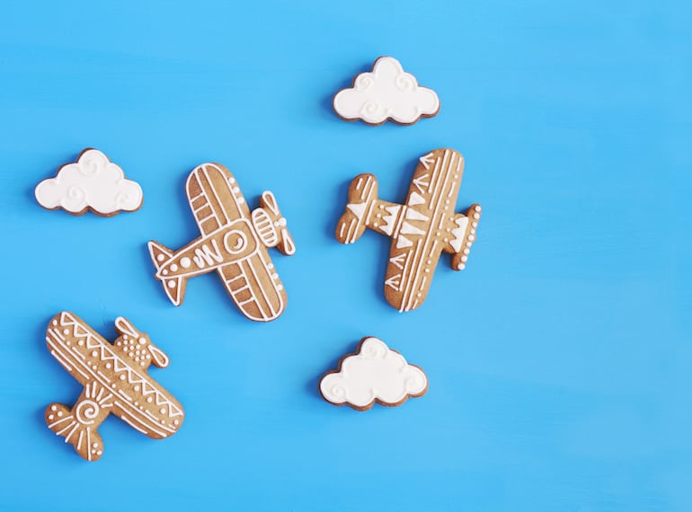 Snacks on a plane for kids HERO/