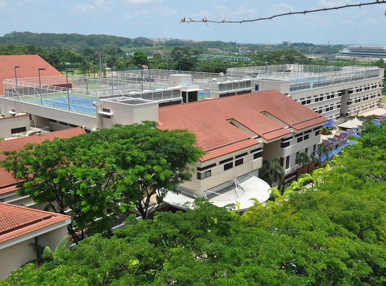 Treetop-Tennis courts Singapore American School SAS