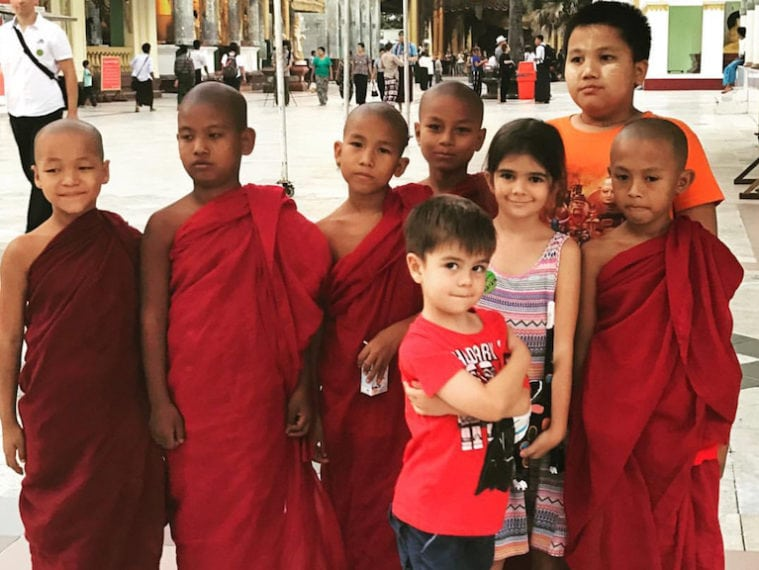 Myanmar-with-kids-MONKS