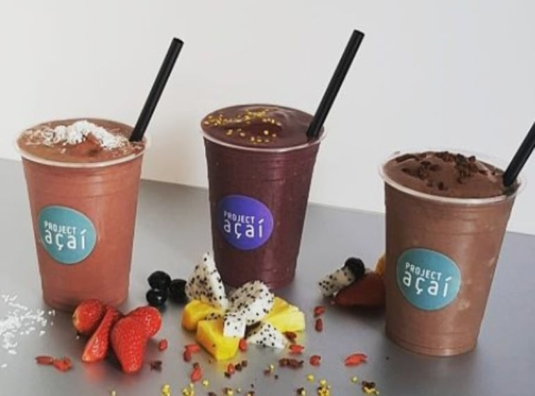 Health acai smoothies from Project Acai