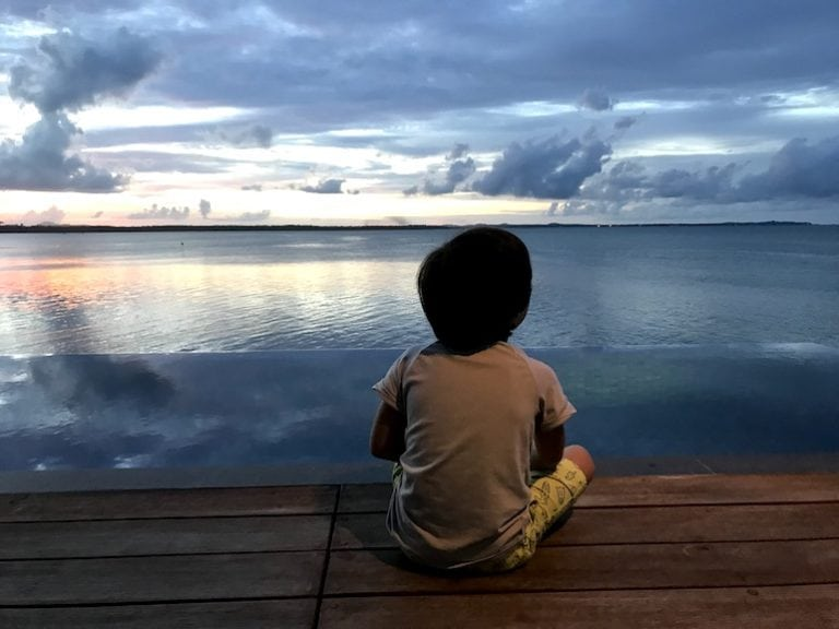 Watching the sunset from your villa at The Residence Bintan.