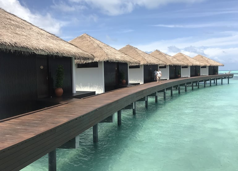 Overwater spa villas at The Residence Maldives