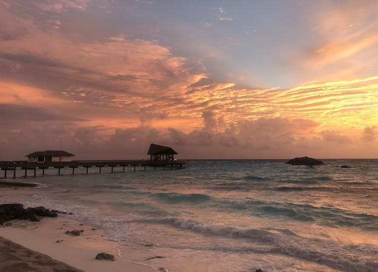 Sunset at The Residence Maldives
