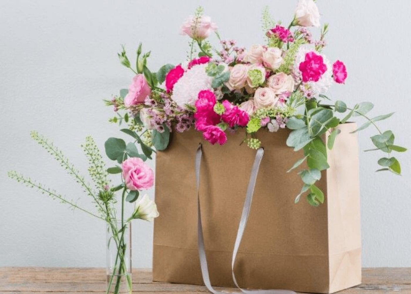 flowers in a bag