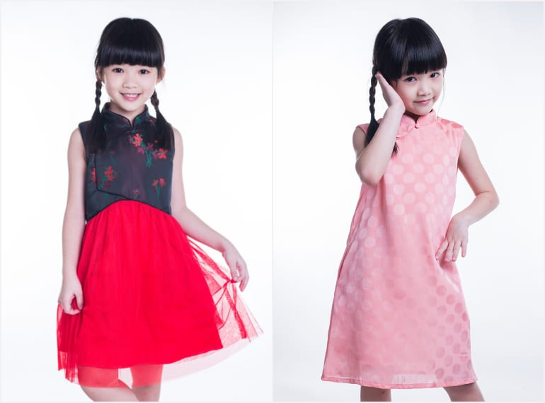 little-qipao Cheongsams and Mandarin-collars for kids