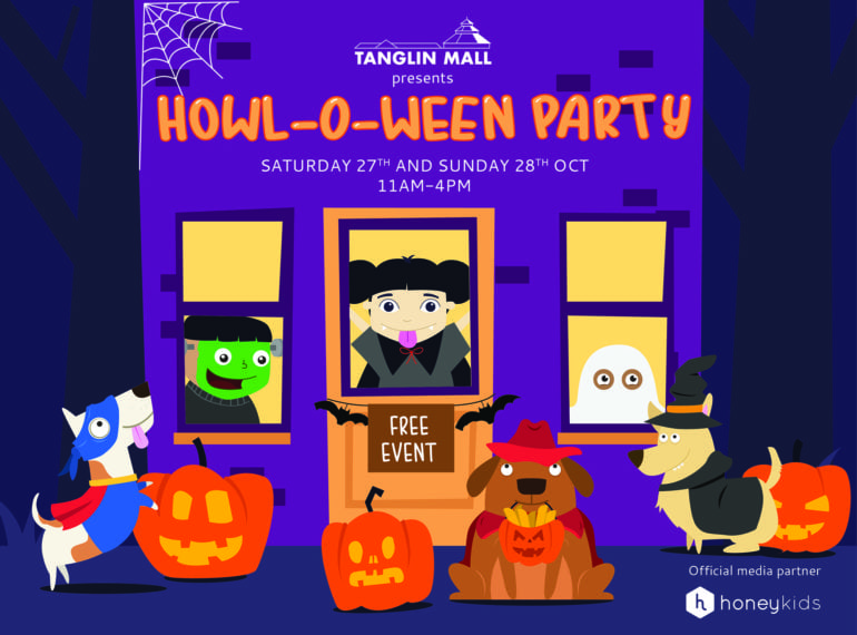 You're invited to the Tanglin Mall Howl-o-ween Party on 27 and 28 October