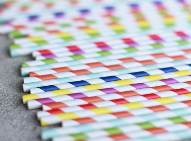 Colourful stripy