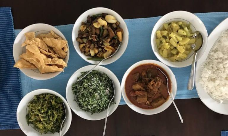 Sri Lankan feasts at the Ambassadors House