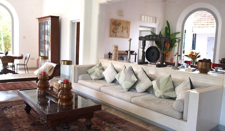 The breezy living room at Pooja Kanda villa