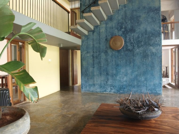 Standout feature walls at Saffron and Blue villa