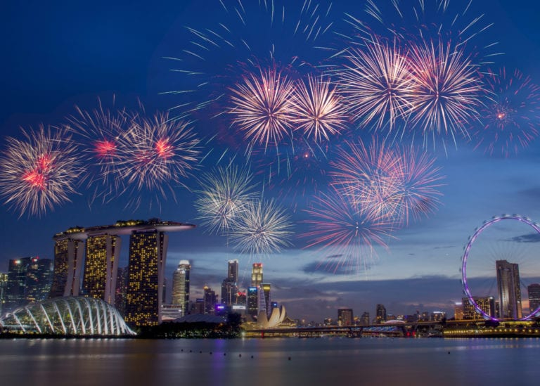Where to watch fireworks in Singapore with kids