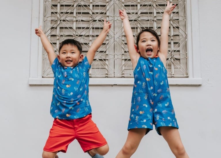 Chinese New Year outfits: Cheongsams and Mandarin-collar shirts and CNY threads for kids in Singapore