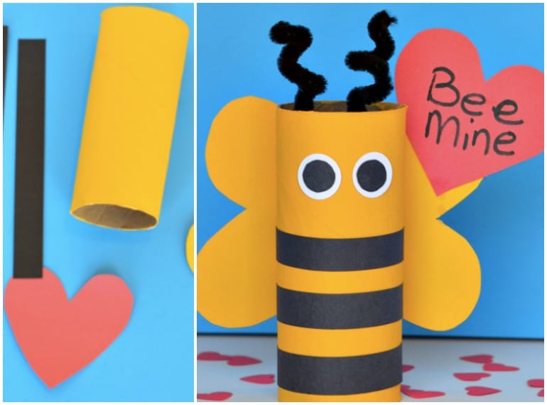 Valentines-Day-Craft-for-Kids-BEE-MINE
