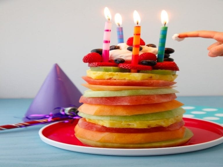 Feeling fruity: birthday cakes made from fruit!