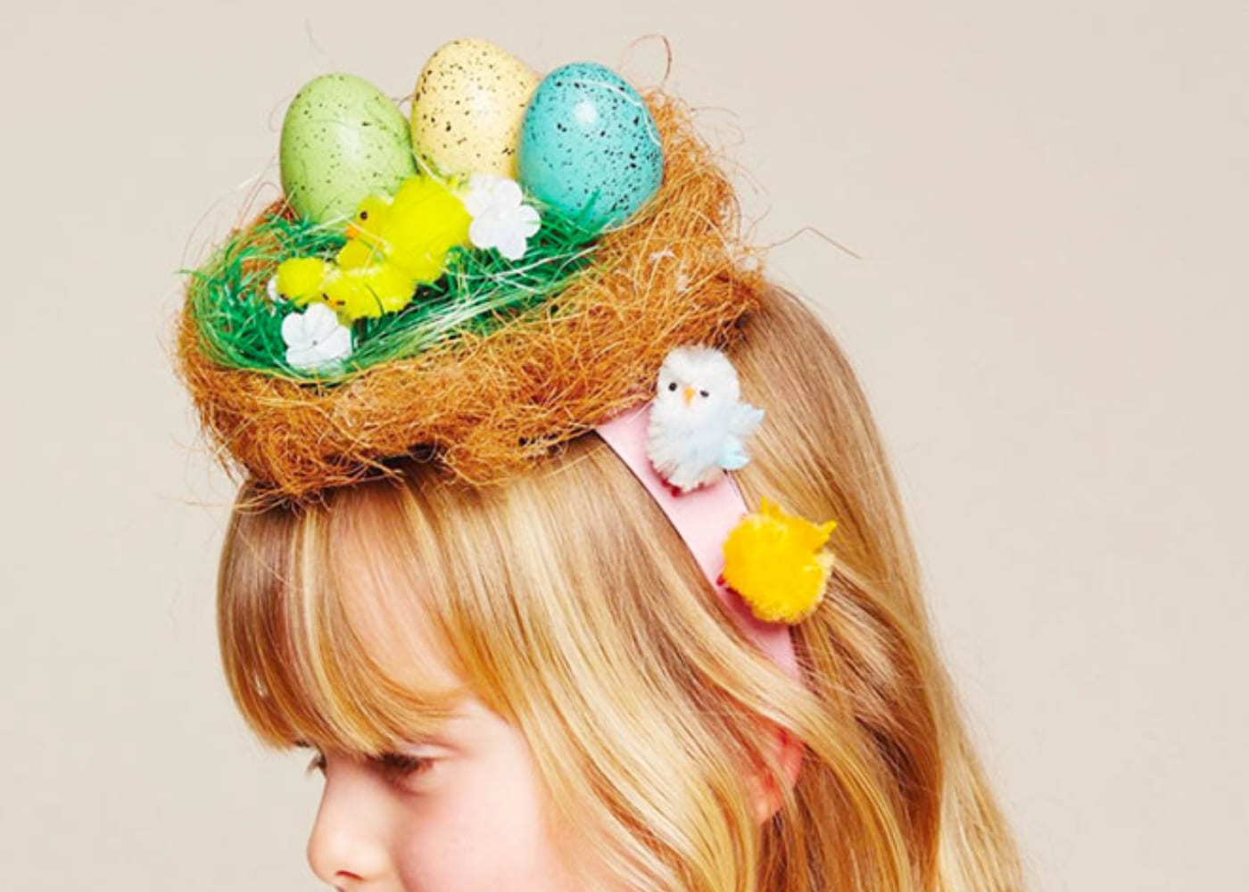 easter hats and bonnets nest chicks