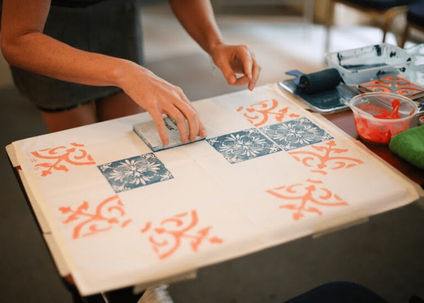 Peranakan Printing with Jennifer Lim Art | Creative and fun workshops for parents in Singapore