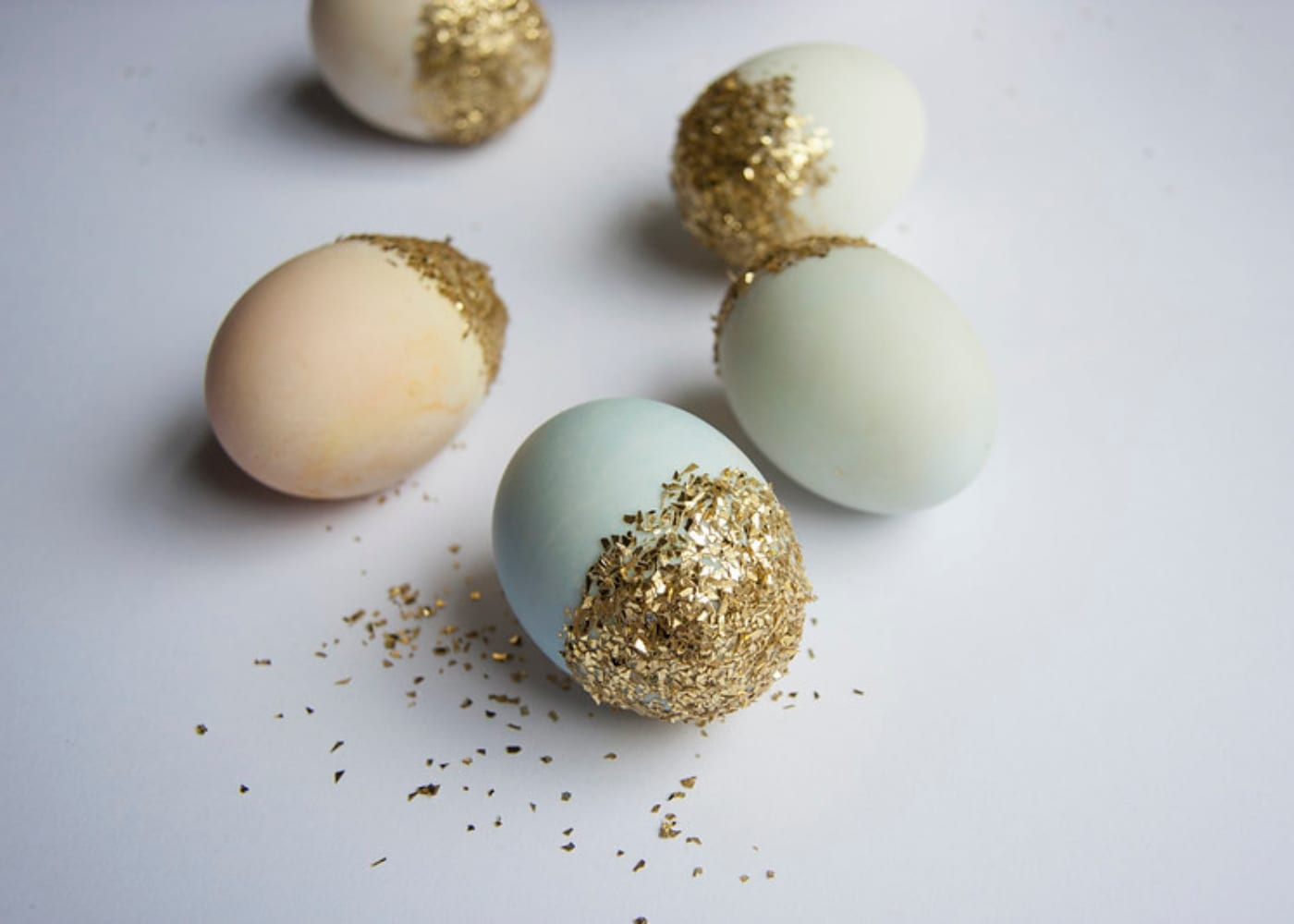 painted eggs easter craft glitter ladyland