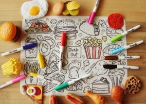 washable colouring mats