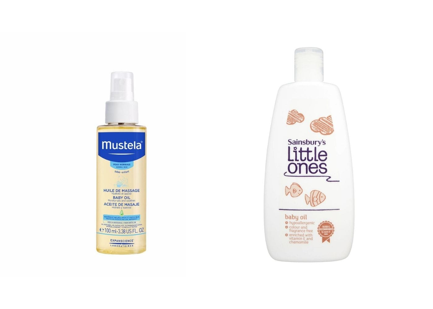 Beauty Products I Can Steal From My Baby: Baby Oil from Mustela and Sainbury's