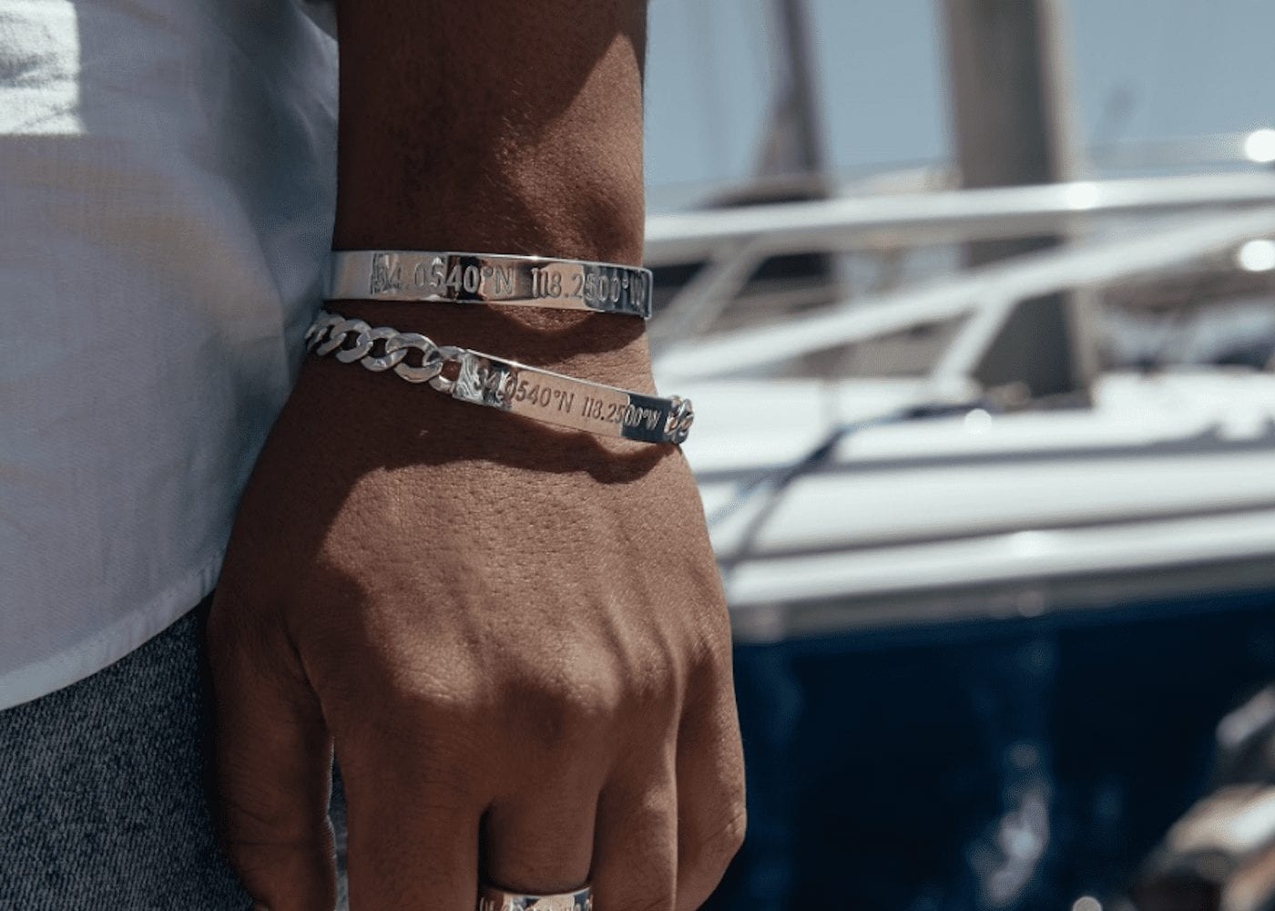 Custom bracelets with location coordinates: Coordinates Collection
