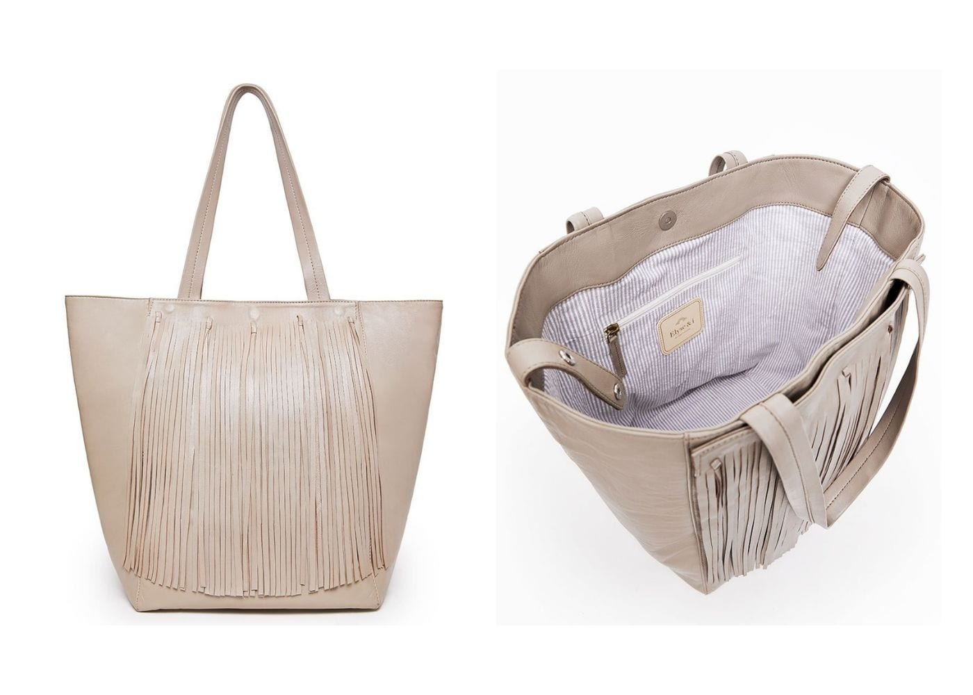 Stylish Diaper Bags: Elyse & I Finlay Fringe Tote Bag