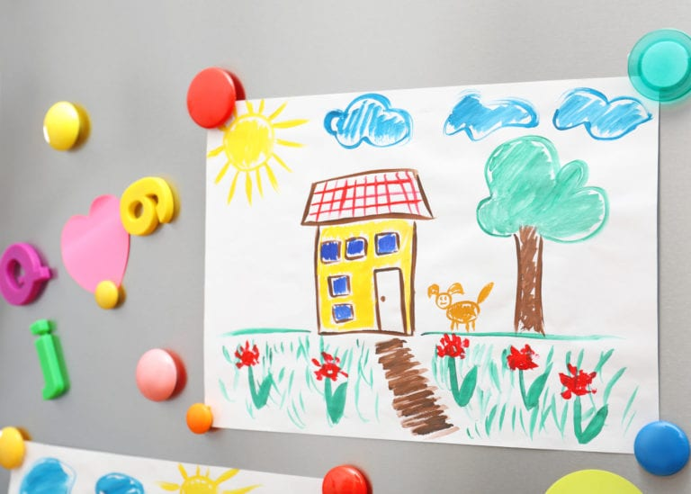 Reclaim your fridge! Check out these five innovative ways to display kids' art at home