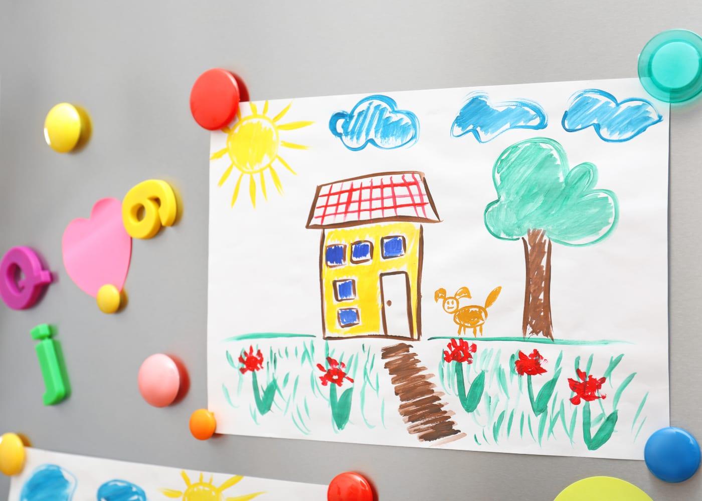 fridge kids drawing art