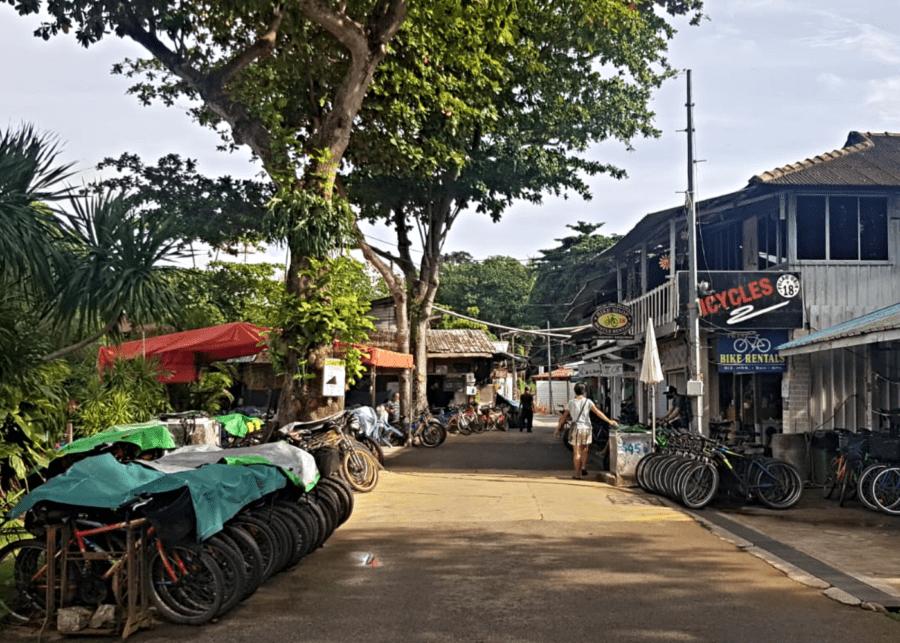 hiring bikes at singapore's ubin town