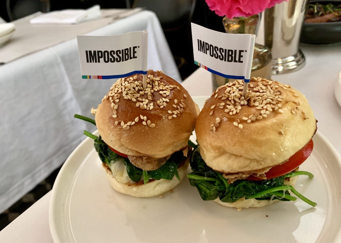 Impossible Foods: Sliders at PS. Cafe