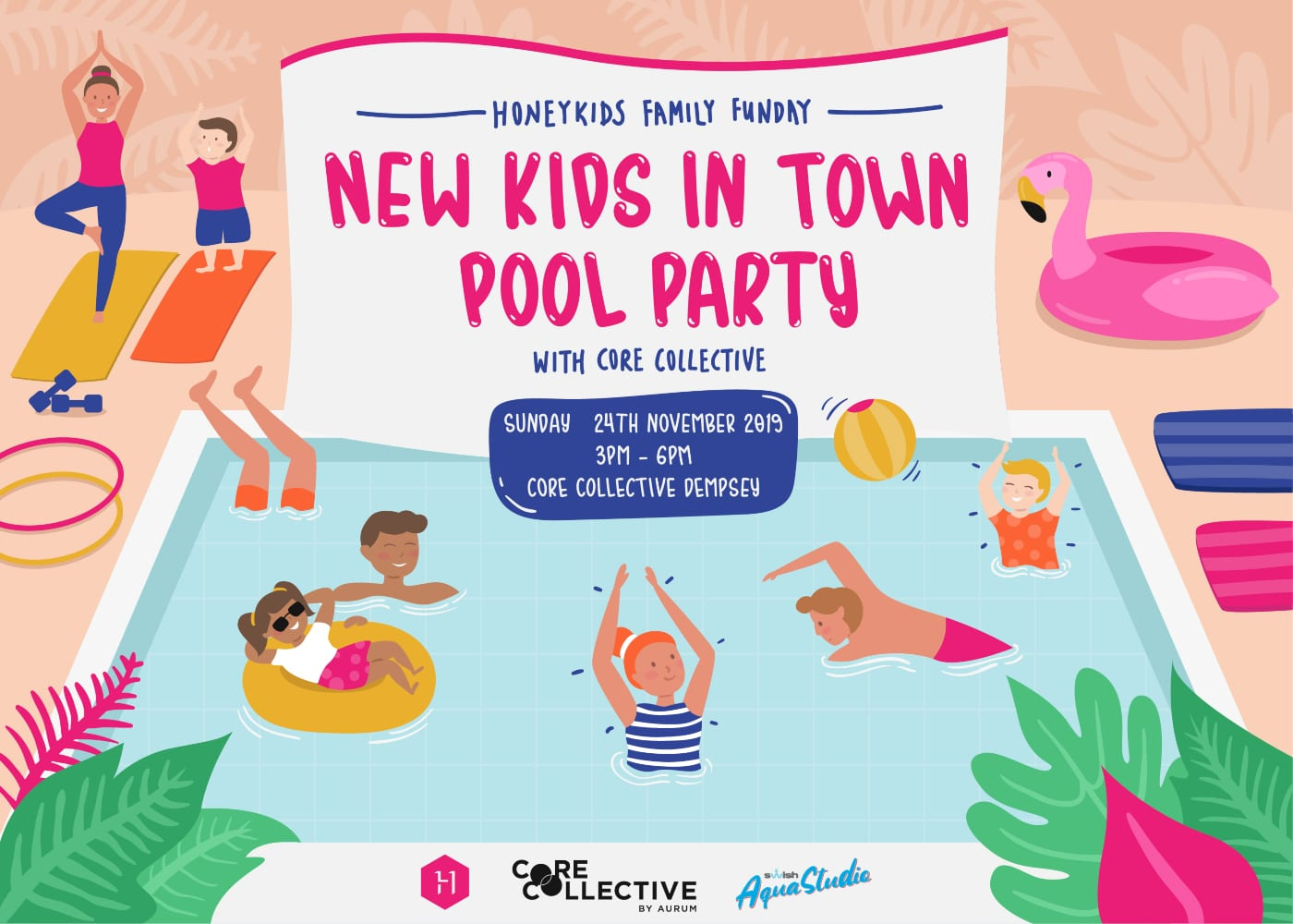 new kids in town honeykids asia pool party