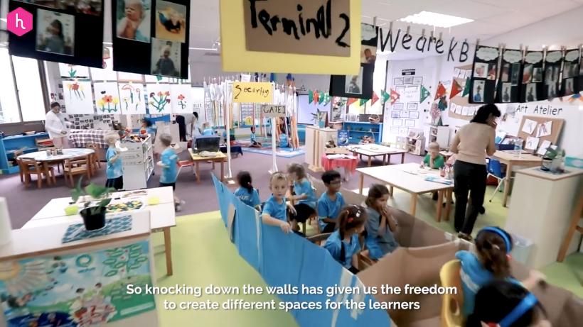 Open classrooms at Nexus International School