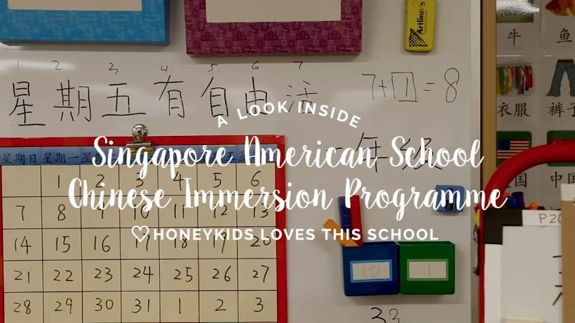 The Chinese immersion programme at Singapore American School