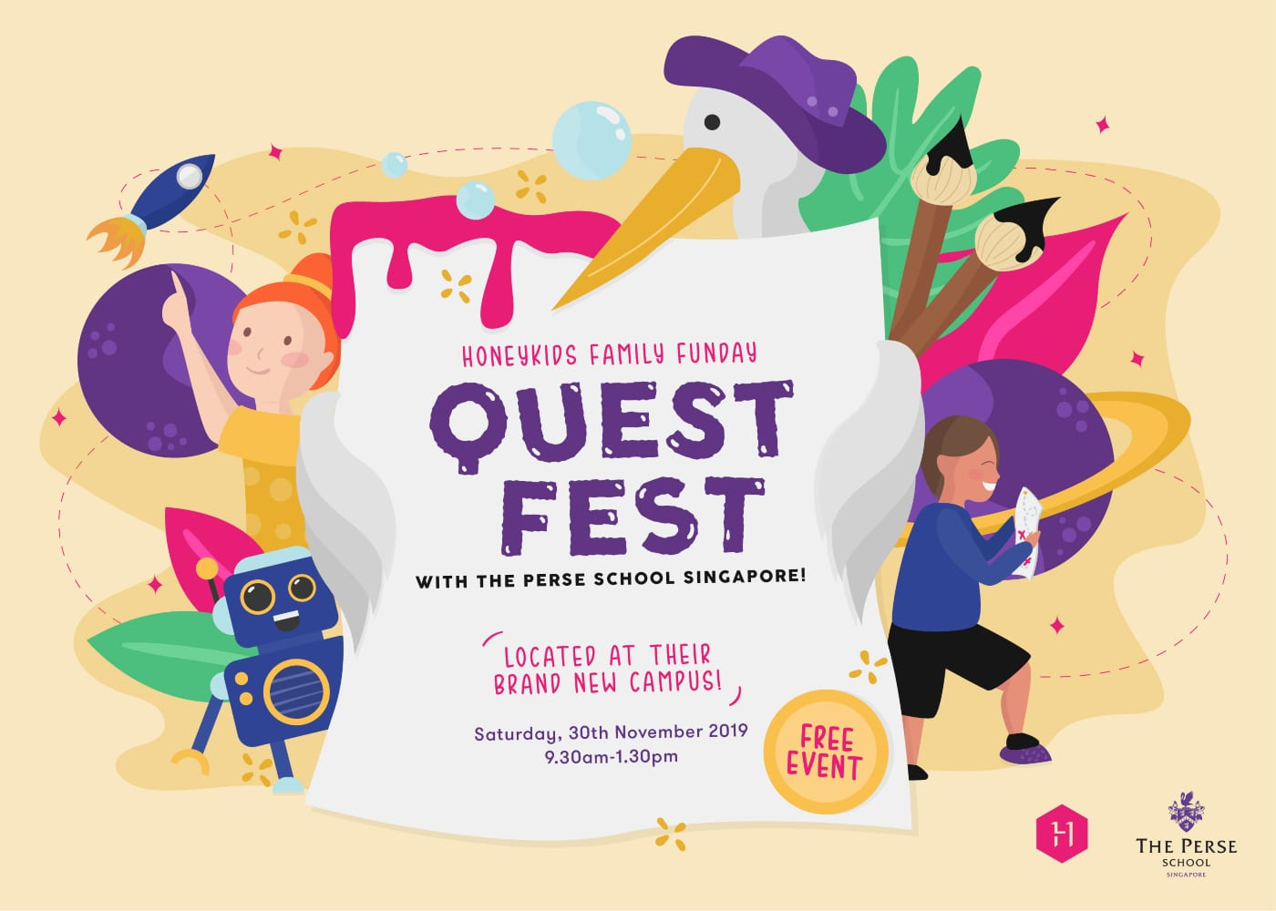 It's this weekend! See you there at HoneyKids Family Fun Day presents: Quest Fest with The Perse School Singapore