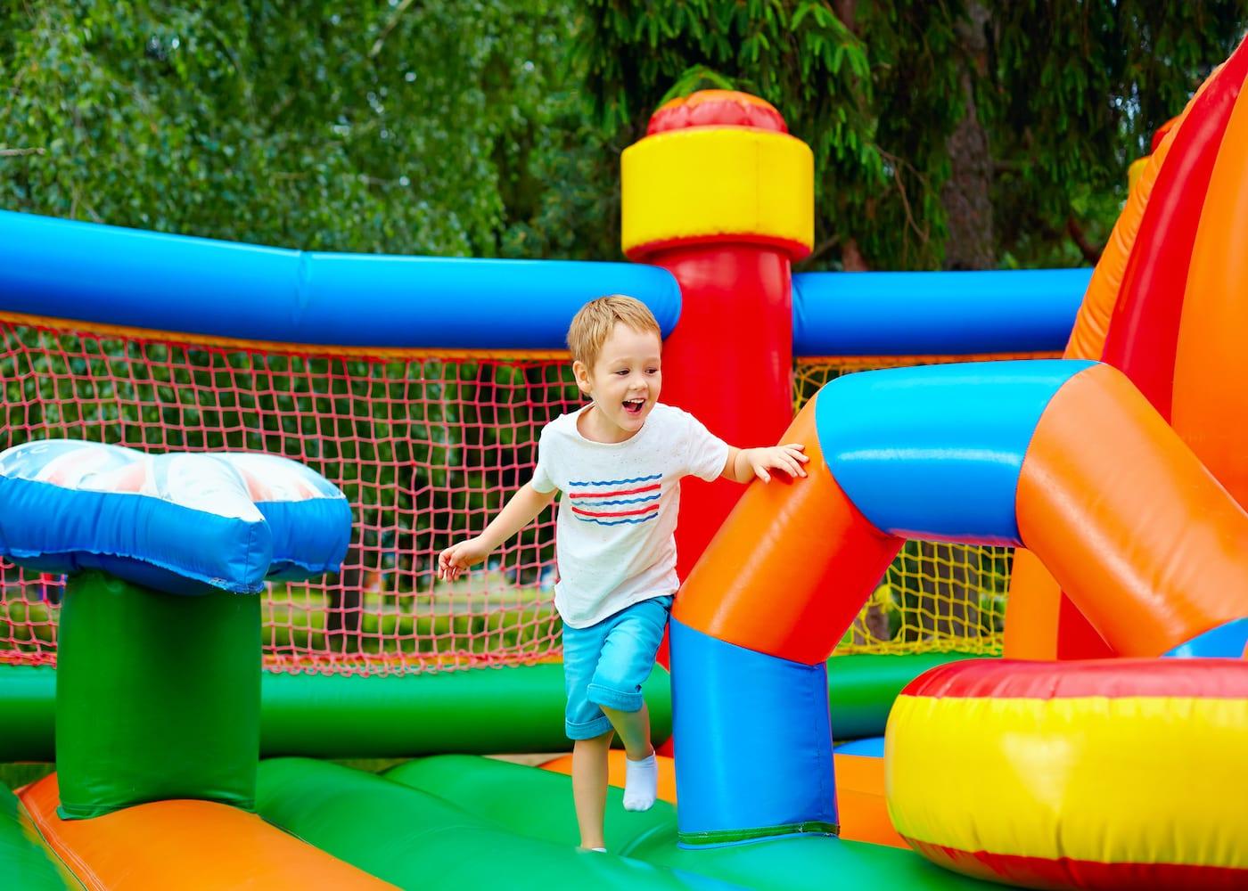 kid on bouncy castle
