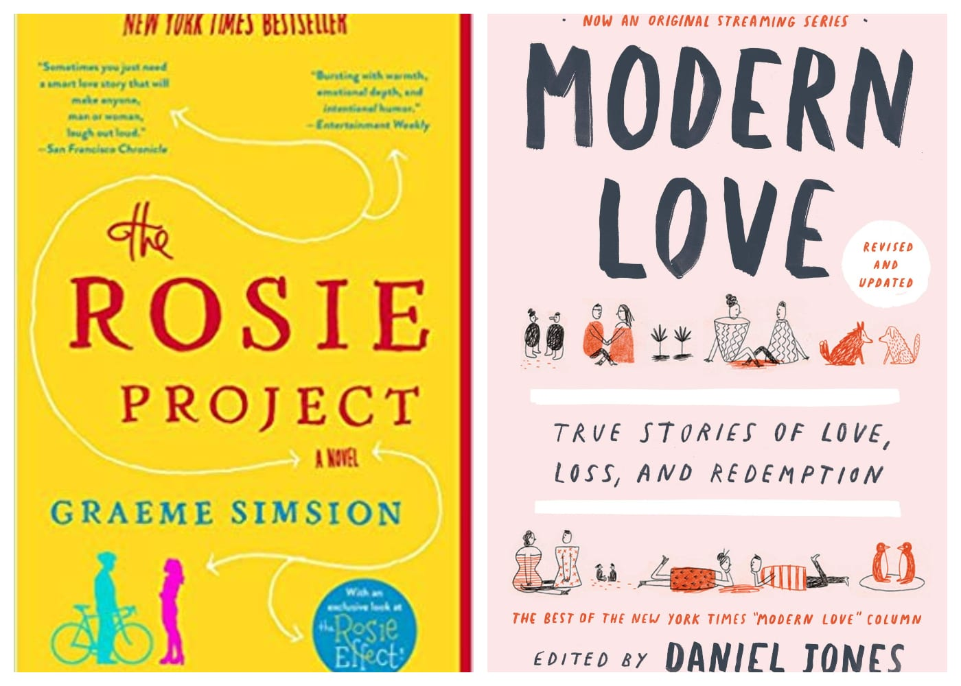 The Rosie Project | Modern Love: True Stories of Love, Loss and Redemption | HoneyKids Book Club