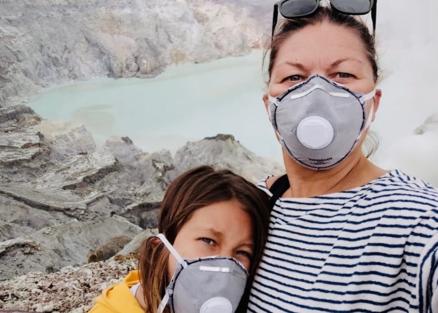 Holiday with a difference: this mum hiked up Kawah Ijen, an active volcano in Indonesia
