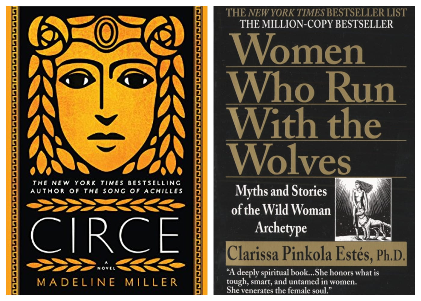 Circe by Madeline Miller | Women Who Run With the Wolves: Myths and Stories of the Wild Woman Archetype by Dr. Clarissa Pinkola Estés | feminist books