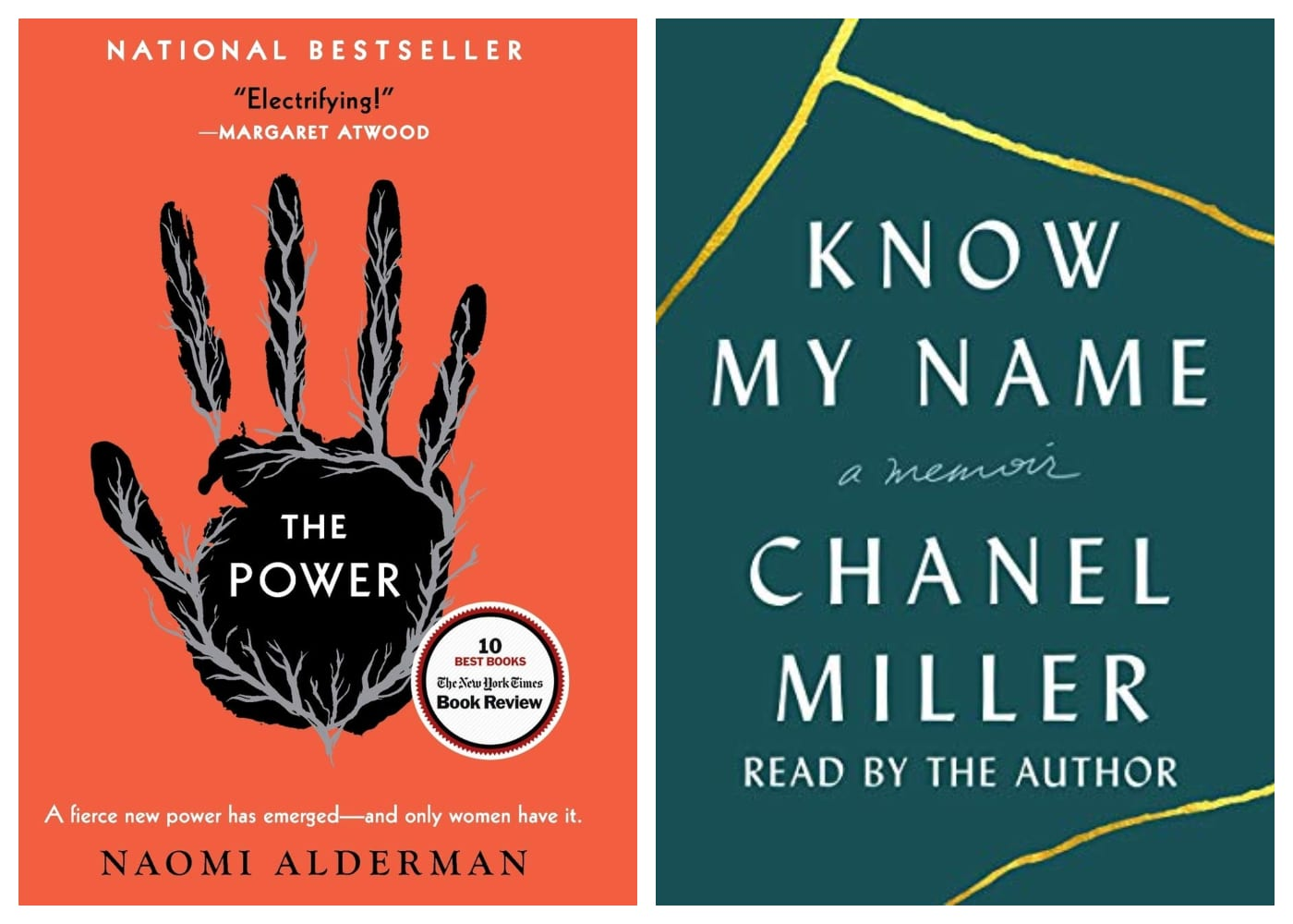 The Power by Naomi Alderman | Know My Name by Chanel Miller | feminist books