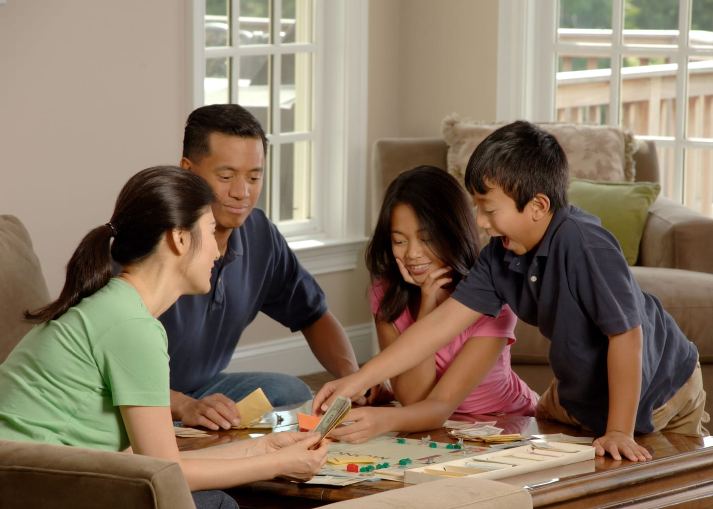 play family board games explain COVID-19 to kids