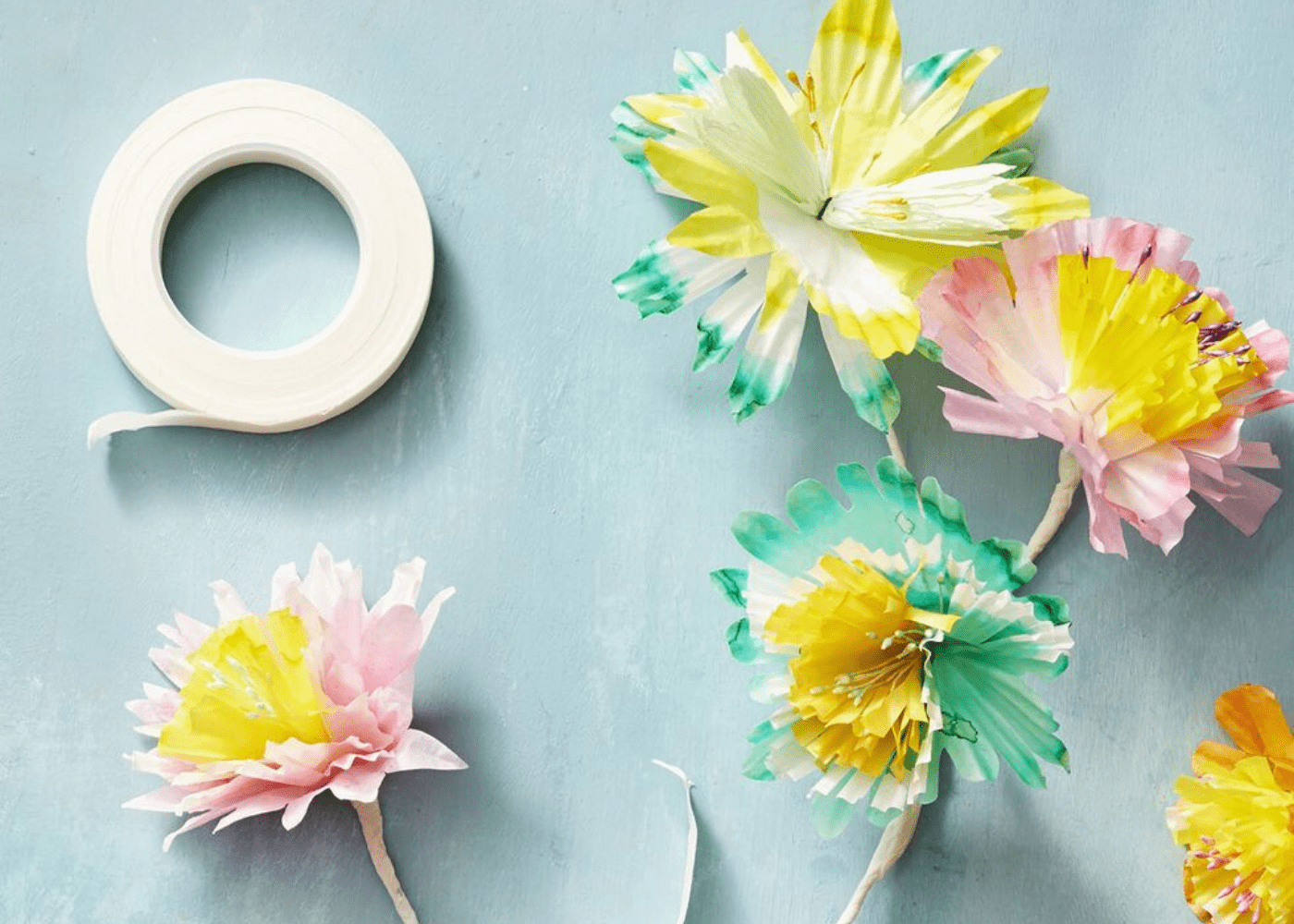 muffin cup flowers crafts good housekeeping