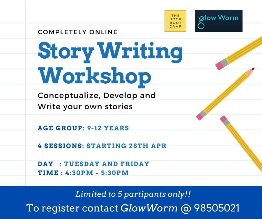 Join Glow Worm SG's story writing workshop