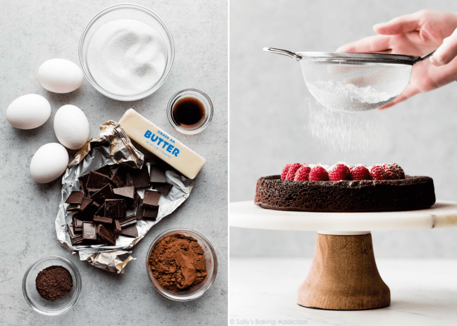At-home baking recipes we're trying during the circuit breaker: Flourless chocolate cake