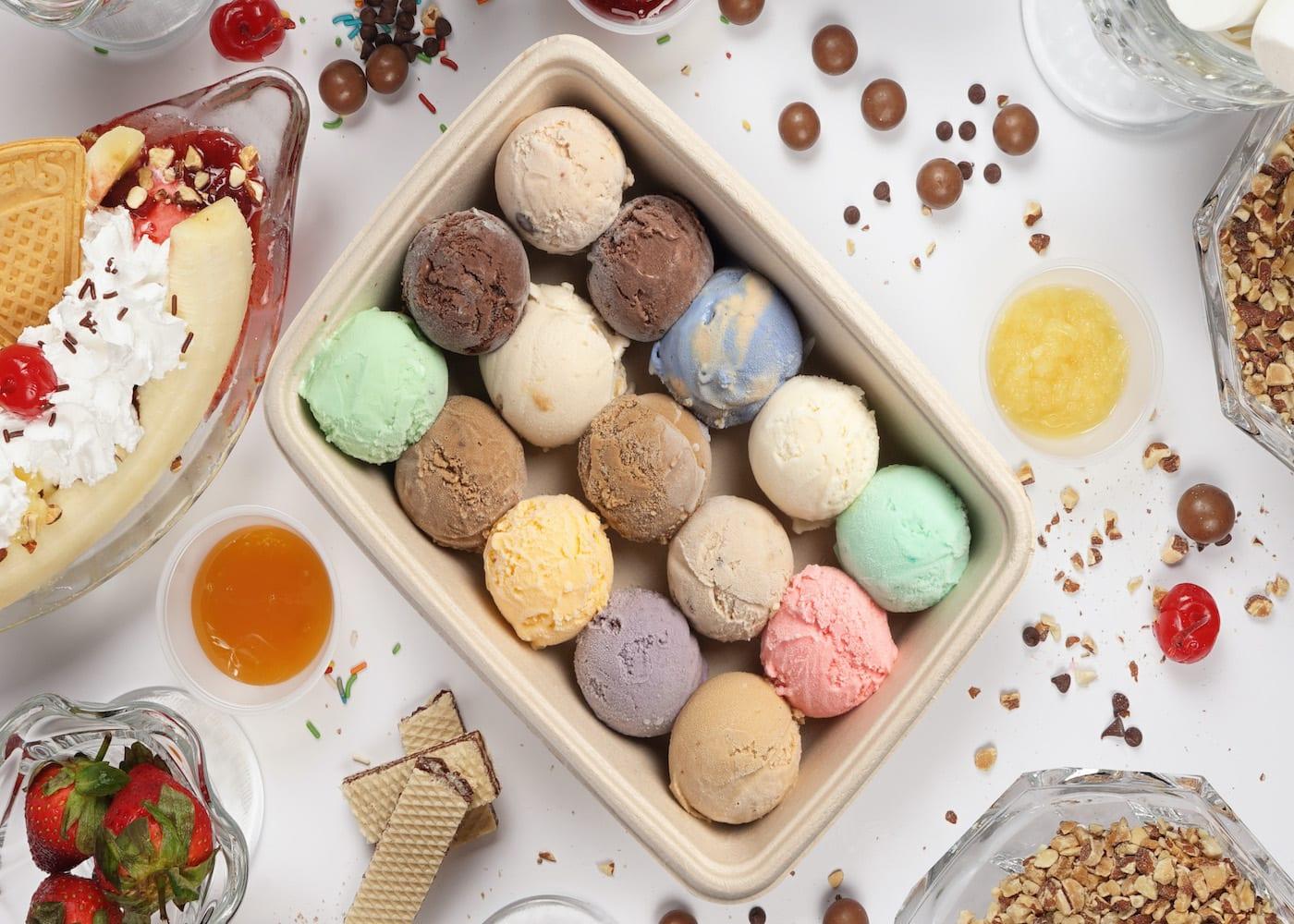 best dessert delivery in Singapore swensens sampler